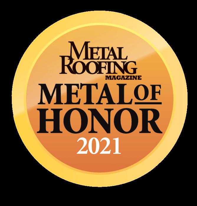 Metal Roofing Magazine's Metal of Honor 2021 logo